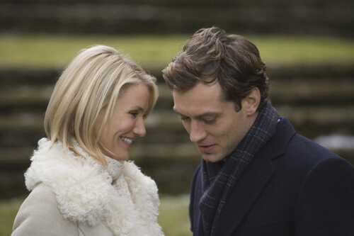 CAMERON DIAZ and JUDE LAW star as Amanda and Graham in the romantic comedy The Holiday, directed by Nancy Meyers.