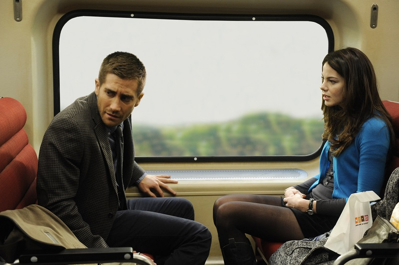 JAKE GYLLENHAAL and MICHELLE MONAGHAN star in SOURCE CODE.