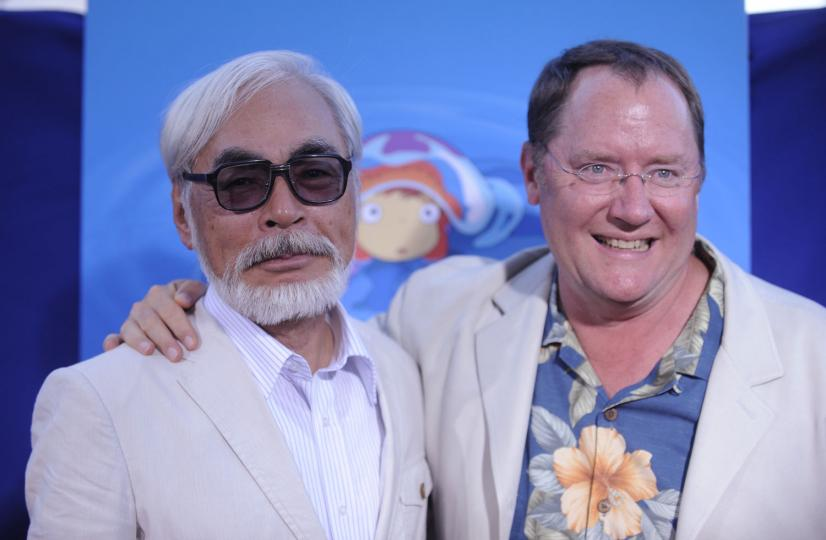 Hayao-Miyazaki-John-Lasseter
