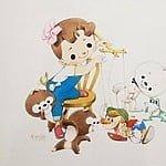 少女漫画のパイオニア・松本かつぢのレトロ可愛いイラスト作品