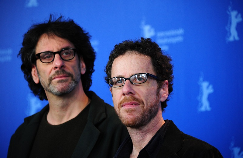 "(from L) US film-making brothers Joel Coen and Ethan Coen pose for photographers during a photocall for their movie ""True Grit"" in Berlin on February 10, 2011 on the first day of the international Berlinale film festival. ""True Grit"", an Oscar-nominated remake of the classic western, kicks off the 61st Berlin film festival, a 10-day extravaganza of glitzy entertainment and explosive political fare. The Berlinale takes place from February 10 to 20, 2010.         AFP PHOTO / JOHANNES EISELE (Photo credit should read JOHANNES EISELE/AFP/Getty Images)"