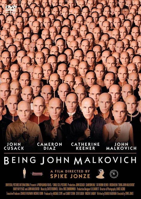 『マルコヴィッチの穴』のポスターも一度見たら忘れられないインパクト!