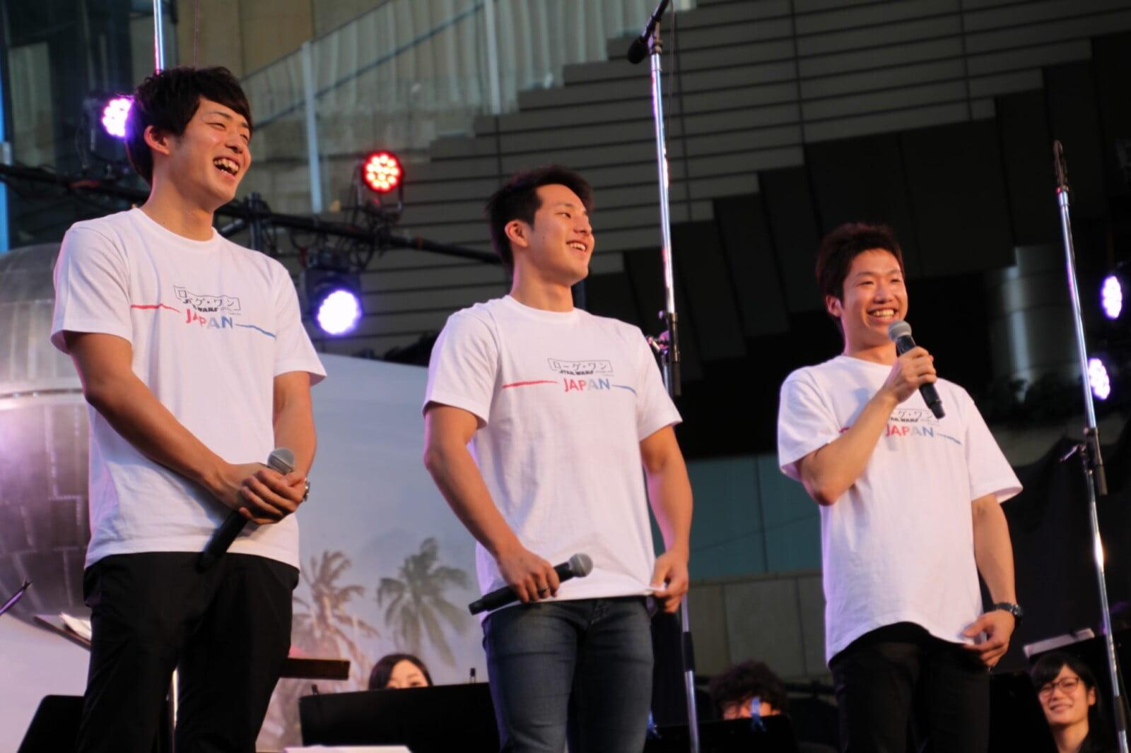 左から坂井聖人さん、瀬戸大也さん、水谷隼さん