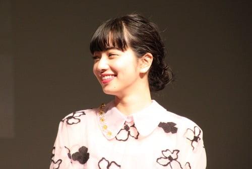 ヒロイン・夏芽を演じた小松菜奈さん。会場からは「かわいい!」の声が連発!