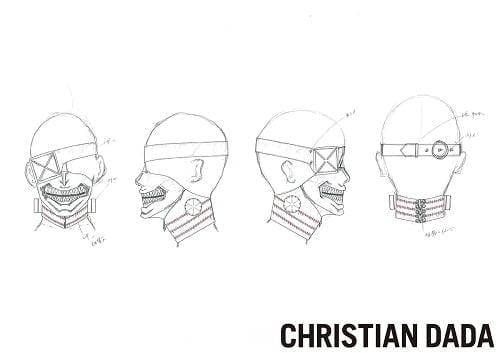 カネキマスクのデザイン画