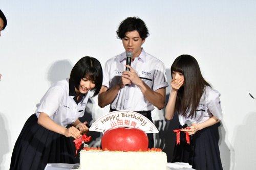 山田裕貴、サプライズの連続に思わずうるうる!映画『あの頃、君を追いかけた』完成披露イベントレポート