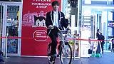 映画『弱虫ペダル』永瀬廉が秋葉原に愛車のママチャリで登場!?キックオフイベントレポート!